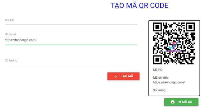 javascript source code web tao va doc ma qr code