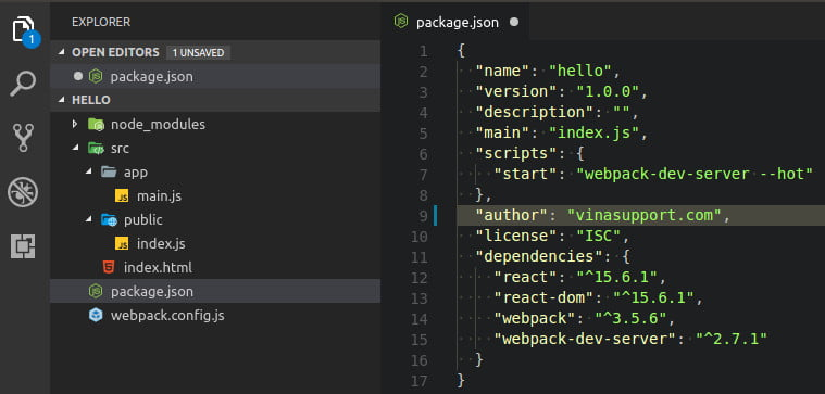 Material Icon Theme extensions cho vs code