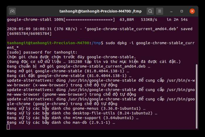 setup google chrome for ubuntu